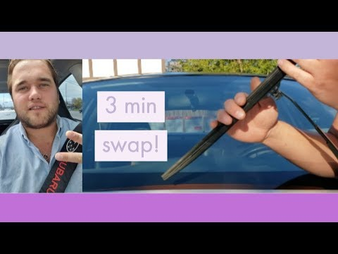 DIY - How to Replace Windshield Wipers in 3 minutes