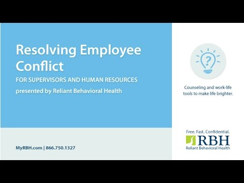 Resolving Employee Conflict Skills for Supervisors and Managers