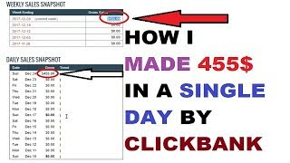 How I Made 455 $ Dollar In a Single Day By Clickbank Proof