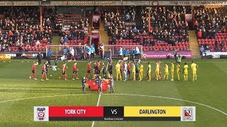 HIGHLIGHTS: York City 4-0 Darlington (01/01/2019)
