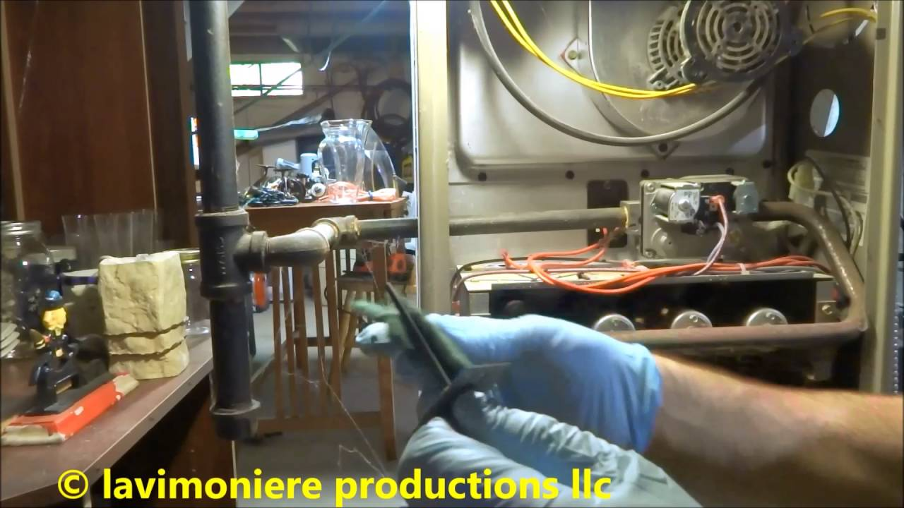 gas furnace cycling on & off,will not stay on - YouTube on