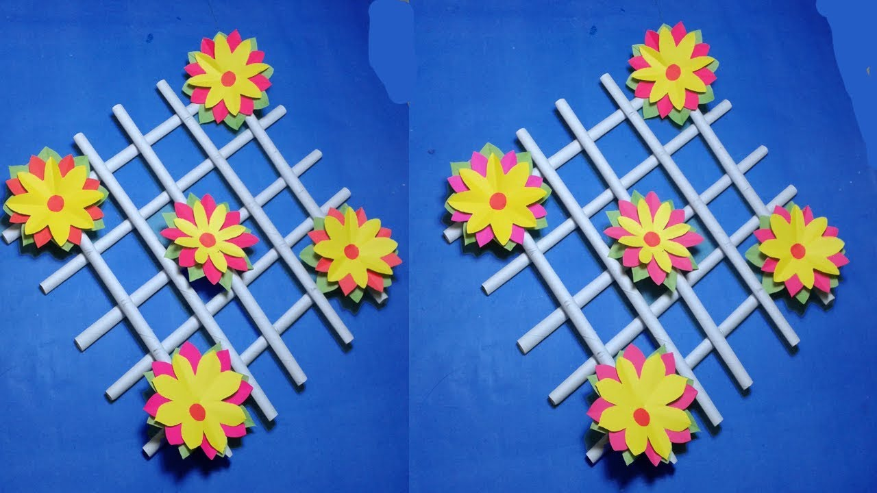 Wall decorating ideashow to make easy wall hanging paper flowers wall decorating ideashow to make easy wall hanging paper flowerspaper cutting decoration mightylinksfo