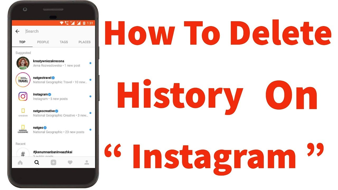 How To ClearDelete History On Instagram Search Permanently2018Remove Watch historyChat