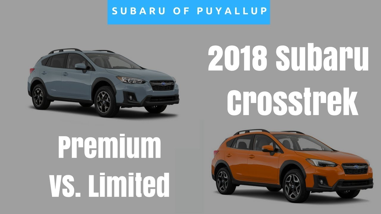 2018 subaru crosstrek comparison premium vs limited. Black Bedroom Furniture Sets. Home Design Ideas