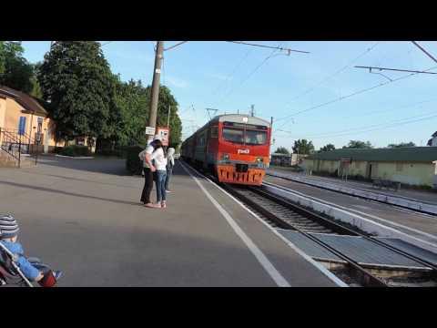 Зеленоградск Cranz На вокзал пришла электричка