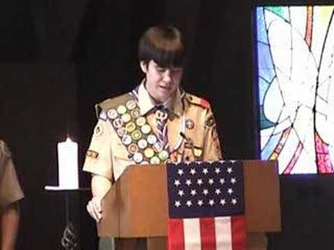 Troop 390 Terry Reilly's Eagle Scout Speech