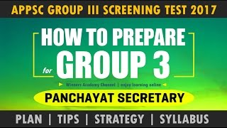 APPSC Group 3 - How to Prepare for Screening Test ?