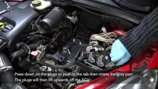 Peugeot 307 Battery and ECU removal