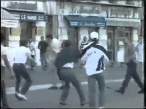 Tunisian vs. English Hooligans 1998 @ Marseille (HQ&FULL)