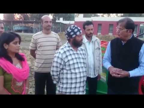 CONSERVATION AGRICULTUTRE WHEAT SOWING USING HAPPY SEEDER AT KVK NDRI KARNAL INDIA