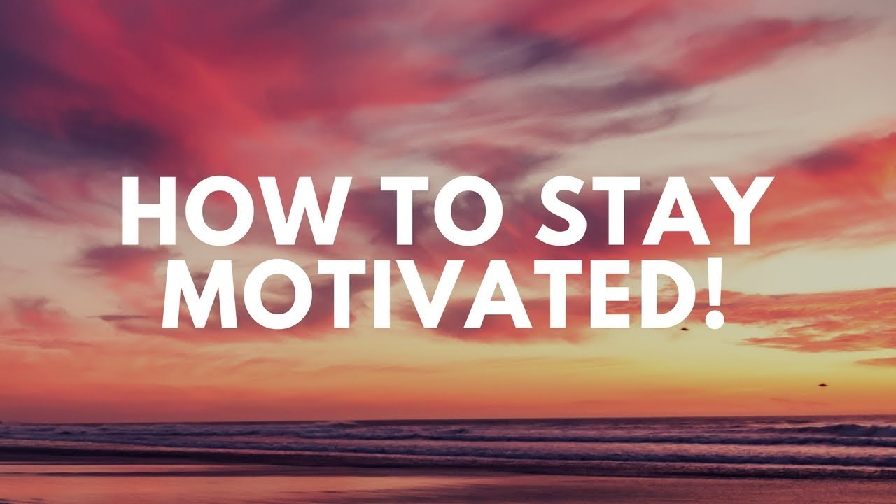 how to stay motivated thesalonguy youtube
