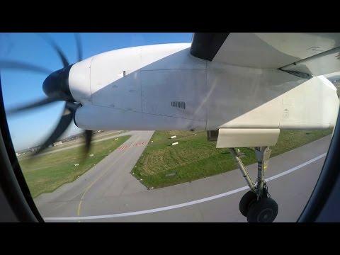✈ FULL FLIGHT ✈ Swiss Dash 8-Q400 Stuttgart (STR) To Zurich (ZRH)