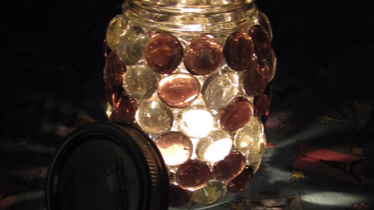 Mason Jar Candle Holders How To Make Beautiful Stone Mason Jar Candle Holders Diy Home
