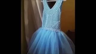 Платье крючком плюс юбка из фатина. Обзор