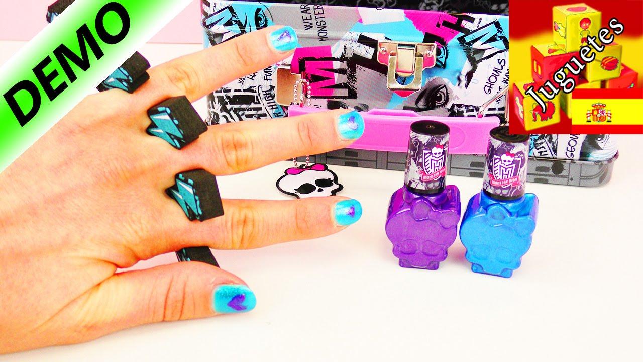 Esmalte de uñas | Monster High | Diseño de uñas - YouTube