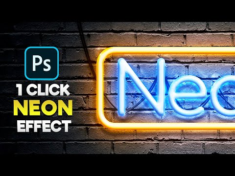 Neon Effect Photoshop Tutorial | Realistic Neon Sign Text Effect
