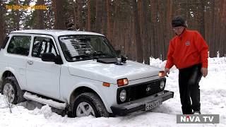 NIVA-TV Drive the snow  test LADA 4x4 1.8 liter 95 hp upgrated