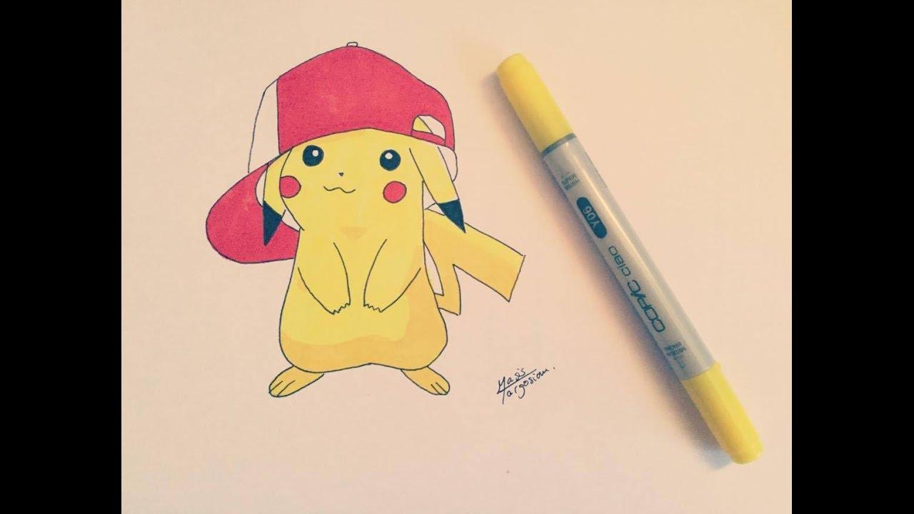 Comment Dessiner Pikachu Niveau Débutant