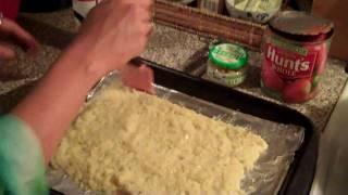 Part 1 Of 2   Johnnie & Nicholes Clean Foods Recipes Low Carb  Low Fat Cauliflower Crust Pizza & Meatballs Recipe 2010