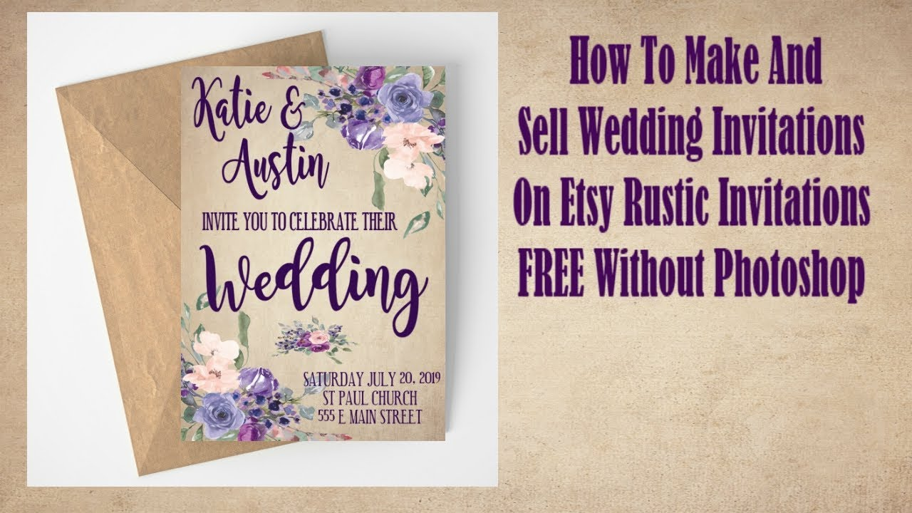 How To Make And Sell Wedding Invitations On Etsy