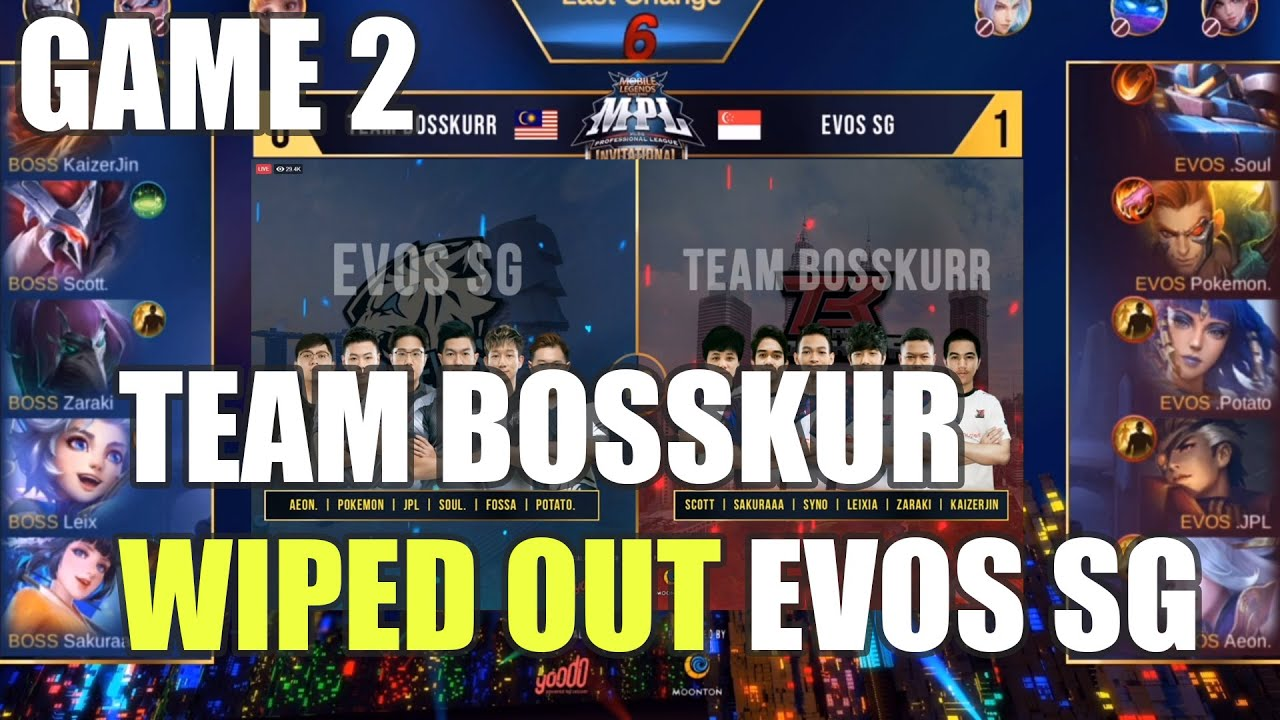 LEIXIA BERJAYA RATAKAN EVOS SG TAPI INI BERLAKU!! TEAM BOSSKUR VS EVOS SG | MPLI | GAME 2