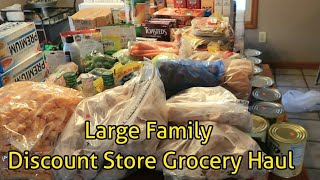 Discount shopping Haul for Large family