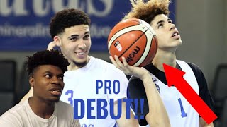 LaMelo & LiAngelo Ball Make Their PRO Debuts In Lithuania HIGHLIGHTS! | Reaction