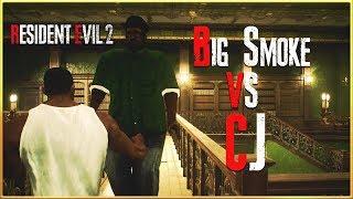 CJ Versus Big Smoke In Resident Evil 2 Remake