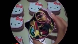 Ponytail Holders Hairbands Girls Kitty Floral Headband Cartoon Mixing Elastic Hair wear Accessories