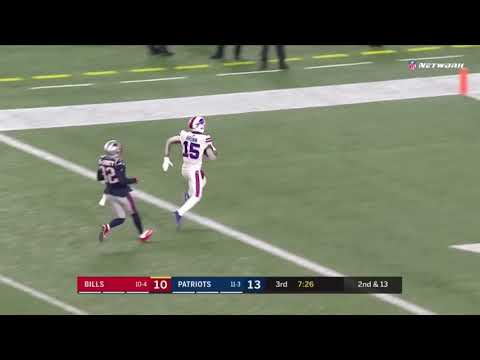 While we are on the subject of great throws that weren't talked about enough, here is Josh Allen connecting with John Brown for a 53 yards touchdown for the lone TD Gilmore have up last season.