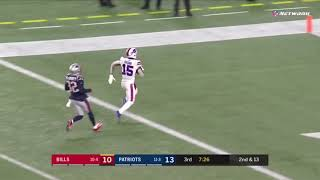 Josh Allen connects to John Brown for a 53 yards touchdown Patriots vs Bills