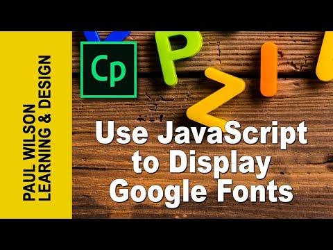 Adobe Captivate - Use JavaScript to Display Google Web Fonts