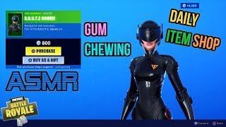 ASMR | Fortnite New B.R.U.T.E. Gunner Navigator Skins! Item Shop Update Gum Chewing 🎮🎧Whispering😴💤