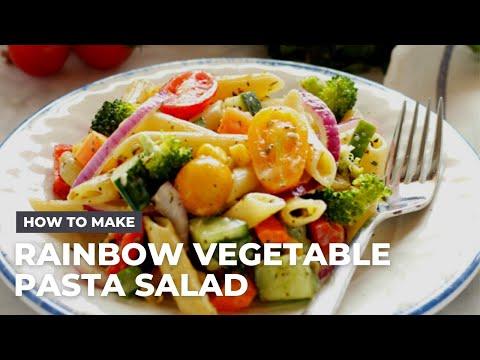 Rainbow Vegetable Pasta Salad Recipe