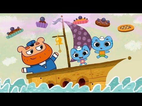 Мультфильмы для Малышей - Котики, вперед! - Прыг-да-скок, черничный пирог (1 серия)
