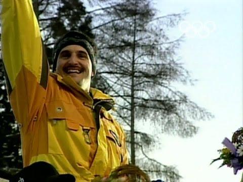 Georg Hackl Wins Luge Gold In New Aerodynamic Boots - 1998 Nagano Winter Olympics