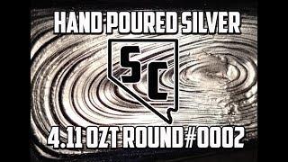 Hand Poured .999 Fine Silver Jerry Bear 4.10ozt  Round # 0002| Sahara Coins Las Vegas |