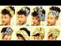 12 Ways to Style Head Wraps and Hats on Short Natural Hair | How to Tie Head Wraps
