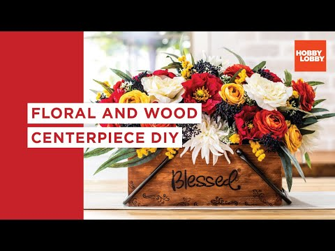 Floral and Wood Centerpiece DIY| Hobby Lobby®
