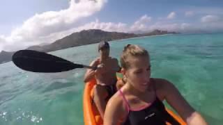 Kayaking in Lanikai, Kailua