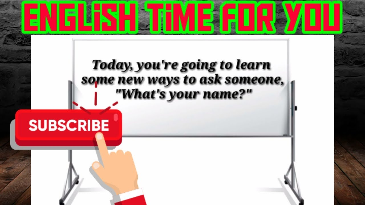 How to ask Someones Name - YouTube