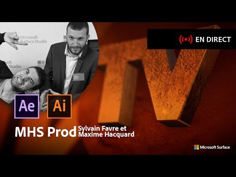 Masterclass avec MHS Prod | Logo d'illustrator à After Effects | Adobe France