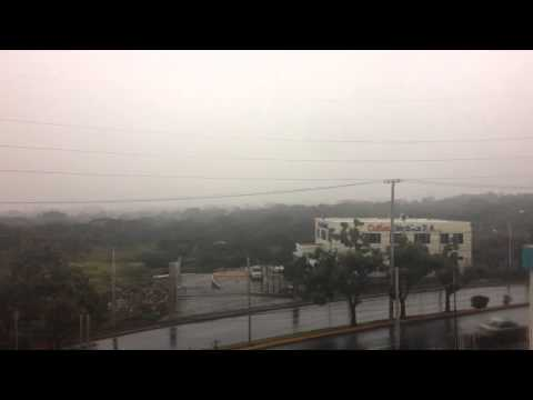 Timelapse - Starting to rain in Managua