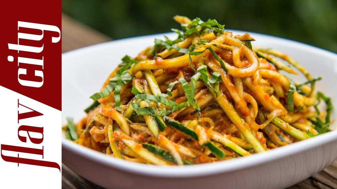 Raw zucchini pasta pasta sauce recipe youtube forumfinder Image collections