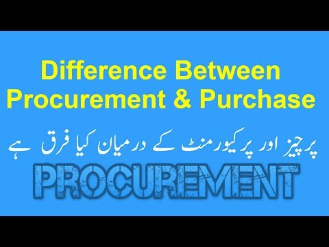 Difference between Procurement and Purchase in Urdu | Hindi | اُردو |