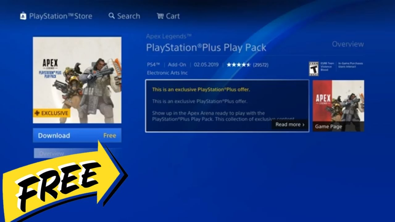 Apex Legends Playstation Plus Play Pack Deep Blue Free Skins Free Banners Free Camo Youtube