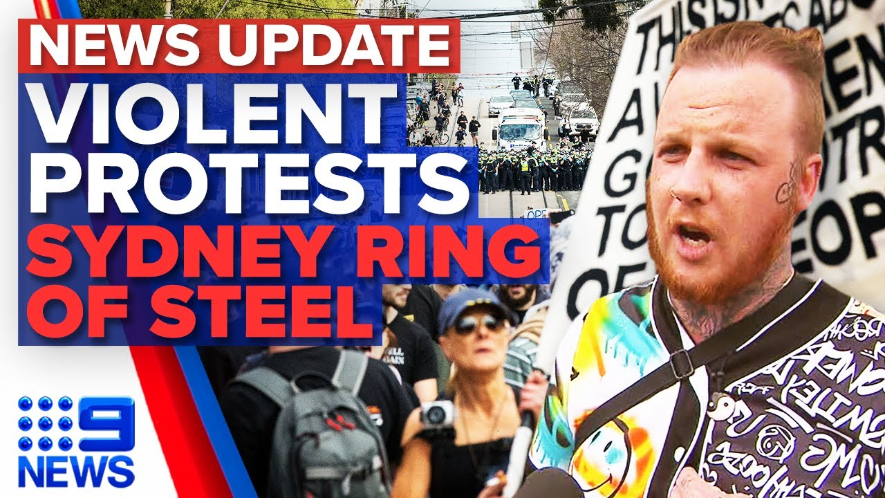 Antilockdown protests in Melbourne turn violent Sydney rallies disrupted  9 News Australia