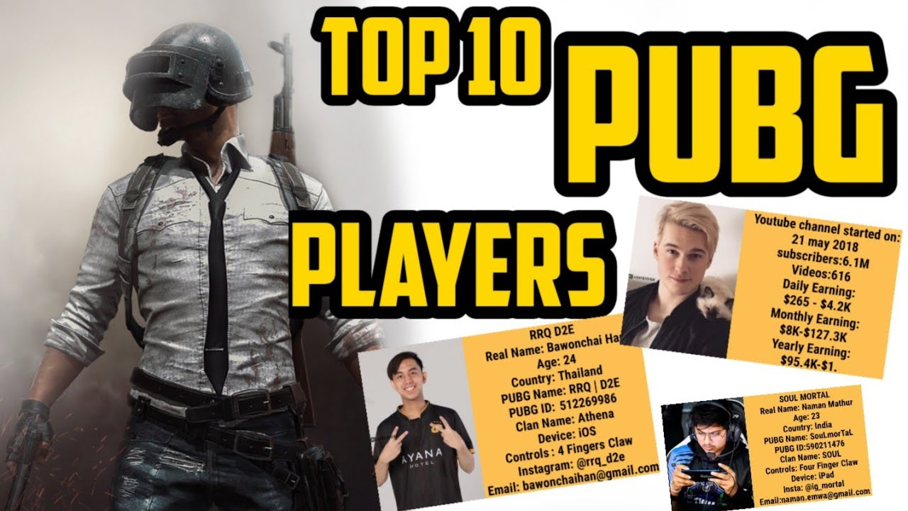 Top 10 PUBG Players in the world | Name,Age,Device,Earnings | Jahan Mubarak