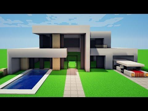 Minecraft construindo uma casa moderna 10 for Casa moderna y pequena en minecraft