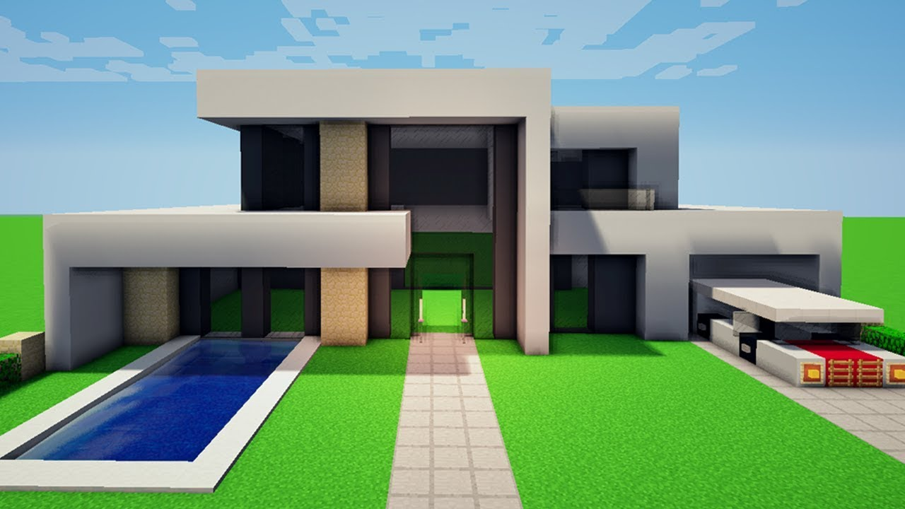 Minecraft construindo uma casa moderna 10 youtube for Casa moderna 7x15
